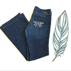 American Eagle Flare Jeans with Embroidered Pocket